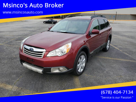 2011 Subaru Outback for sale at Msinco's Auto Broker in Snellville GA