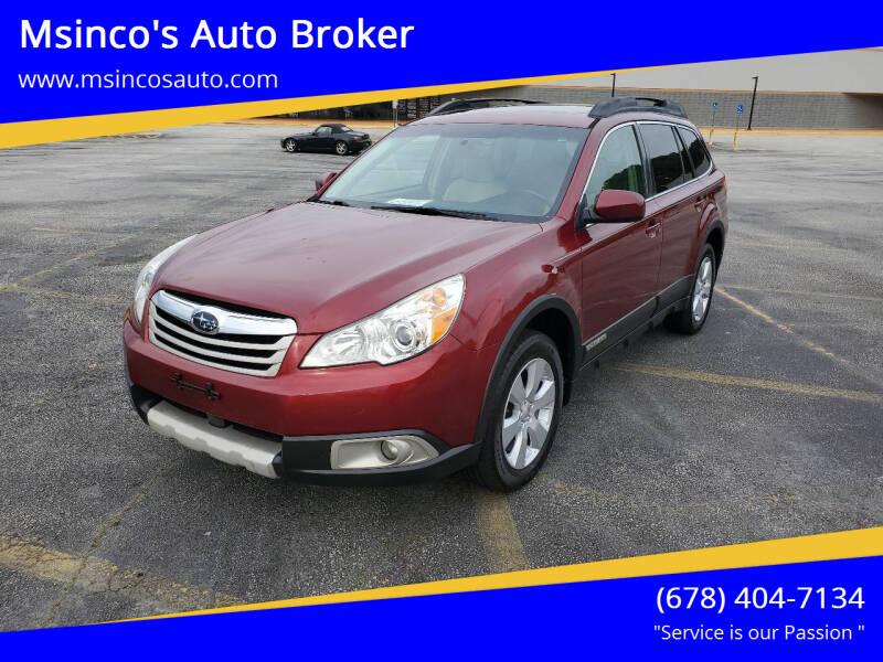 2011 Subaru Outback for sale at Msinco's Auto Broker in Snellville GA