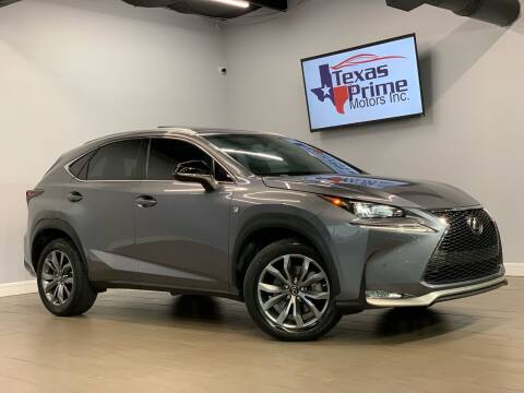 2017 Lexus NX 200t for sale at Texas Prime Motors in Houston TX
