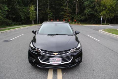 2018 Chevrolet Cruze for sale at Source Auto Group in Lanham MD