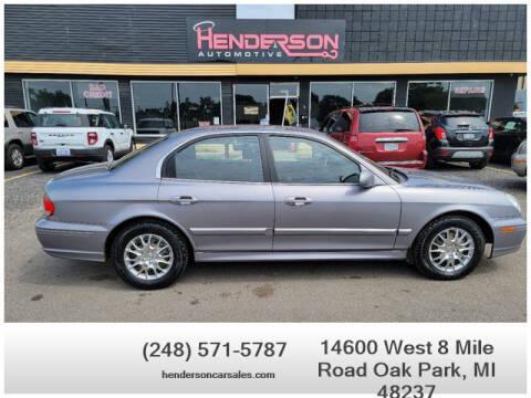 2005 Hyundai Sonata for sale at Henderson Automotive, LLC in Oak Park MI