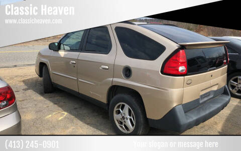 2004 Pontiac Aztek for sale at Classic Heaven Used Cars & Service in Brimfield MA