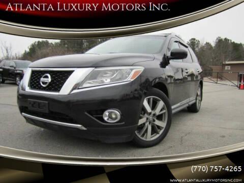2014 Nissan Pathfinder for sale at Atlanta Luxury Motors Inc. in Buford GA