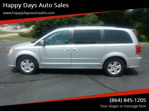2012 Dodge Grand Caravan for sale at Happy Days Auto Sales in Piedmont SC