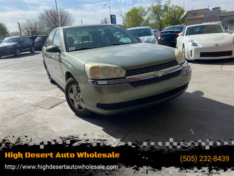 2005 Chevrolet Malibu for sale at High Desert Auto Wholesale in Albuquerque NM
