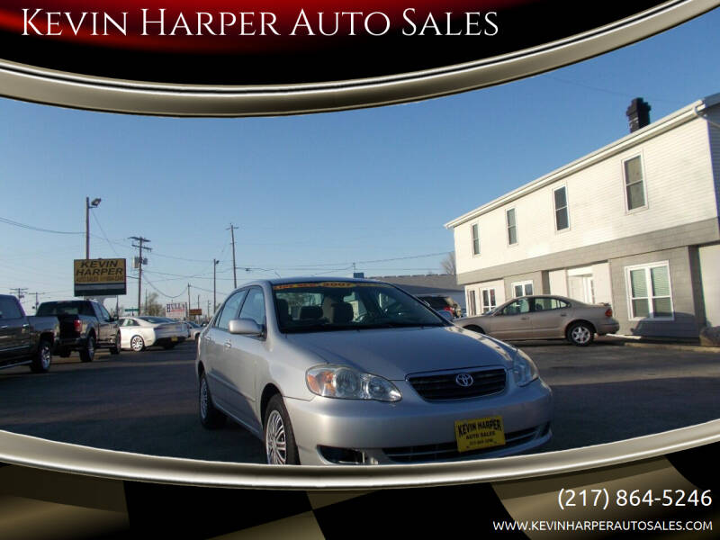 2007 Toyota Corolla for sale at Kevin Harper Auto Sales in Mount Zion IL