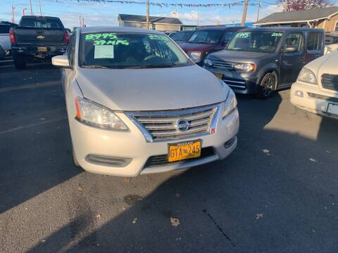 2013 Nissan Sentra for sale at ALASKA PROFESSIONAL AUTO in Anchorage AK