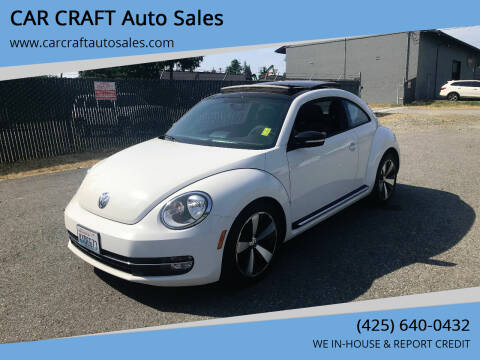 2012 Volkswagen Beetle for sale at Car Craft Auto Sales Inc in Lynnwood WA