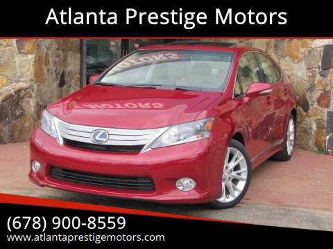2010 Lexus HS 250h for sale at Atlanta Prestige Motors in Decatur GA