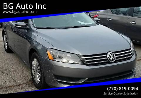 2014 Volkswagen Passat for sale at BG Auto Inc in Lithia Springs GA
