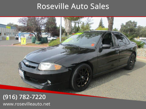 2003 Chevrolet Cavalier for sale at Roseville Auto Sales in Roseville CA