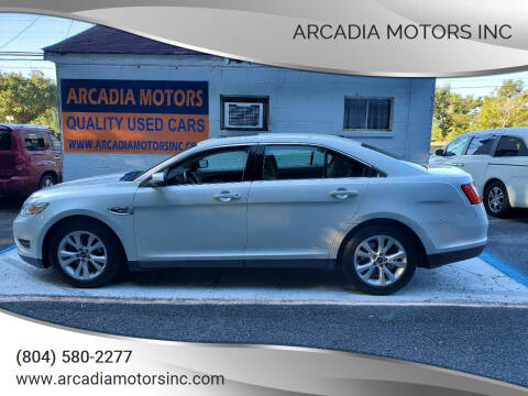 2012 Ford Taurus for sale at ARCADIA MOTORS INC in Heathsville VA