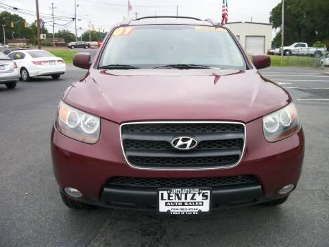 2007 Hyundai Santa Fe for sale at Lentz's Auto Sales in Albemarle NC