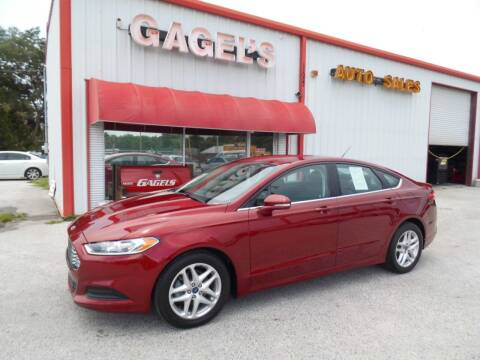 2015 Ford Fusion for sale at Gagel's Auto Sales in Gibsonton FL