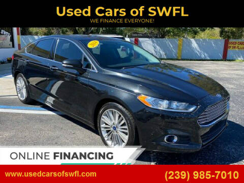 2014 Ford Fusion for sale at Used Cars of SWFL in Fort Myers FL