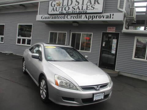 2006 Honda Accord for sale at Gold Star Auto Sales in Johnston RI