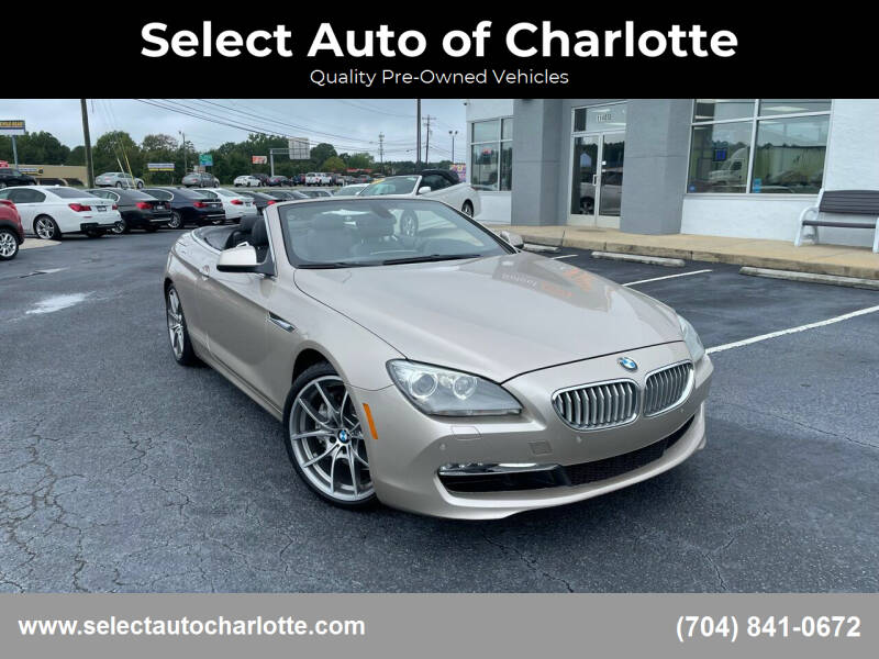 2012 BMW 6 Series for sale at Select Auto of Charlotte in Matthews NC