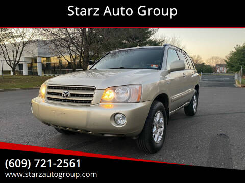 2003 Toyota Highlander for sale at Starz Auto Group in Delran NJ