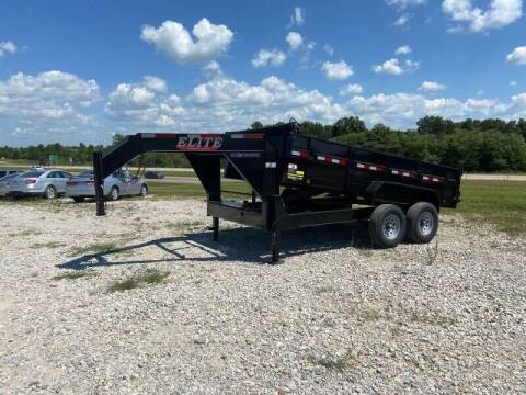 """2021 Elite 83"""" x 14' Gooseneck Dump Trail for sale at Ken's Auto Sales & Repairs in New Bloomfield MO"""