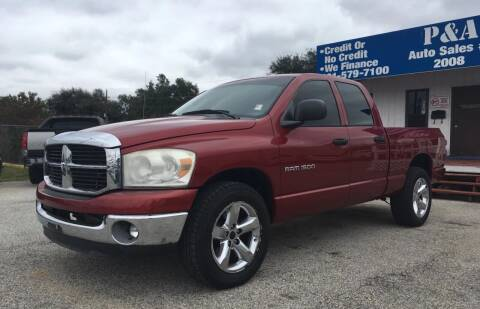 2007 Dodge Ram Pickup 1500 for sale at P & A AUTO SALES in Houston TX