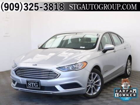 2017 Ford Fusion Hybrid for sale at STG Auto Group in Montclair CA