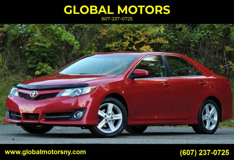 2012 Toyota Camry for sale at GLOBAL MOTORS in Binghamton NY