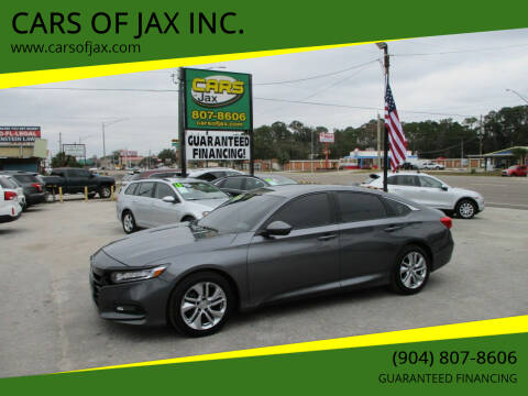 2018 Honda Accord for sale at CARS OF JAX INC. in Jacksonville FL