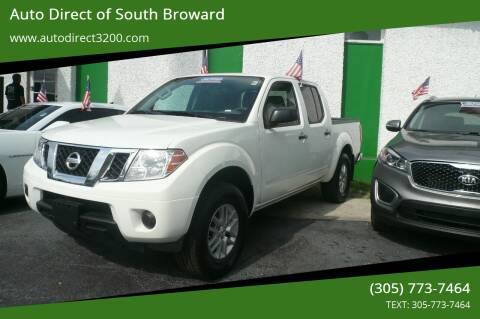 2019 Nissan Frontier for sale at Auto Direct of South Broward in Miramar FL