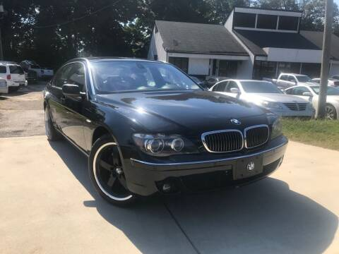 2006 BMW 7 Series for sale at Alpha Car Land LLC in Snellville GA