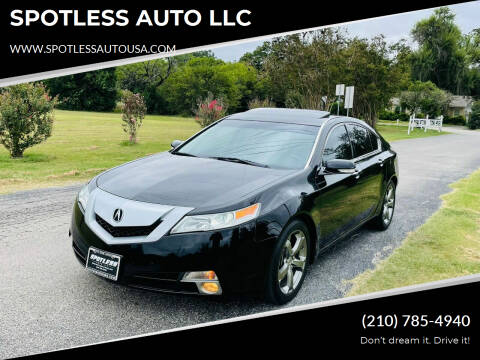 2011 Acura TL for sale at SPOTLESS AUTO LLC in San Antonio TX