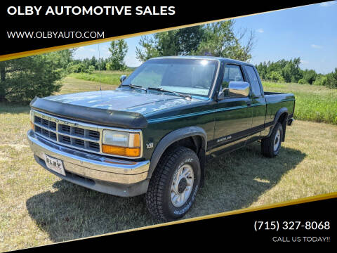 1993 Dodge Dakota for sale at OLBY AUTOMOTIVE SALES in Frederic WI