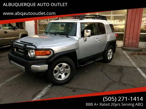 2008 Toyota FJ Cruiser for sale at ALBUQUERQUE AUTO OUTLET in Albuquerque NM