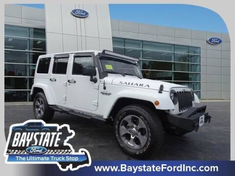 2017 Jeep Wrangler Unlimited for sale at Baystate Ford in South Easton MA