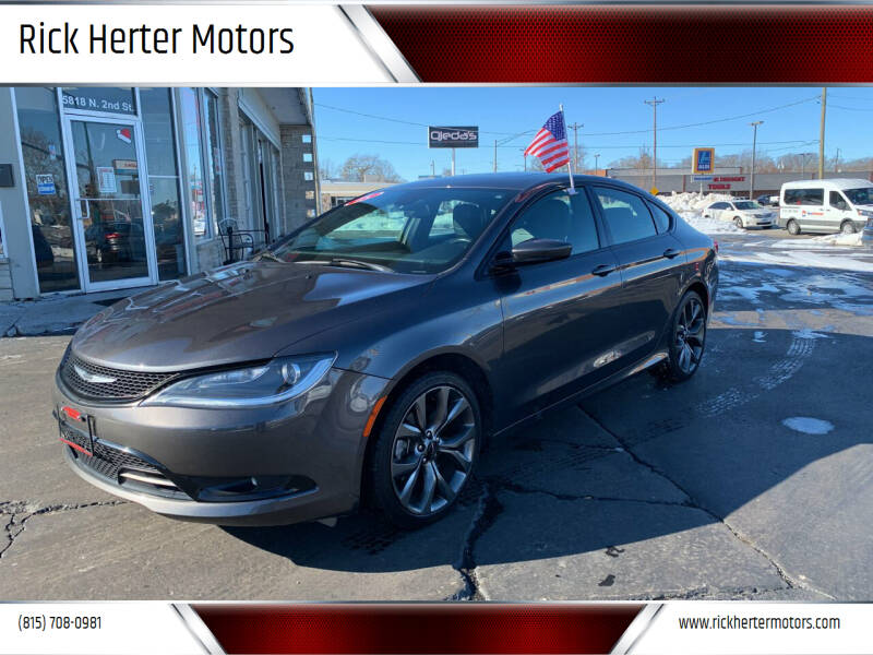 2015 Chrysler 200 for sale at Rick Herter Motors in Loves Park IL