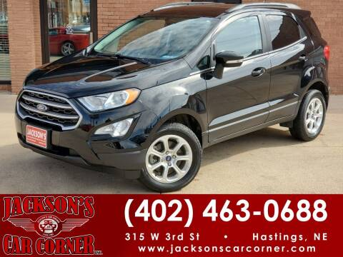 2018 Ford EcoSport for sale at Jacksons Car Corner Inc in Hastings NE