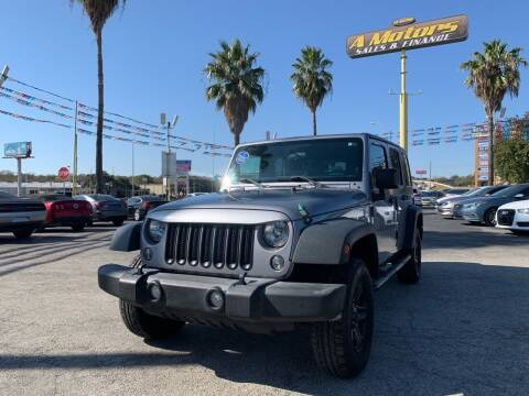 2016 Jeep Wrangler Unlimited for sale at A MOTORS SALES AND FINANCE - 5630 San Pedro Ave in San Antonio TX