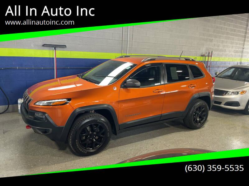 2014 Jeep Cherokee for sale at All In Auto Inc in Addison IL