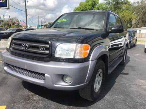 2002 Toyota Sequoia for sale at RoMicco Cars and Trucks in Tampa FL
