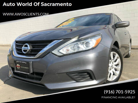 2016 Nissan Altima for sale at Auto World of Sacramento Stockton Blvd in Sacramento CA