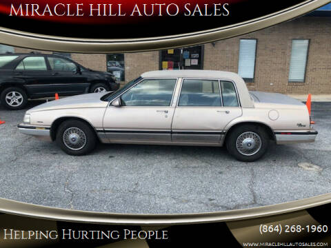 1988 Buick Electra for sale at MIRACLE HILL AUTO SALES in Greenville SC