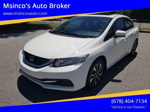 2014 Honda Civic for sale at Msinco's Auto Broker in Snellville GA