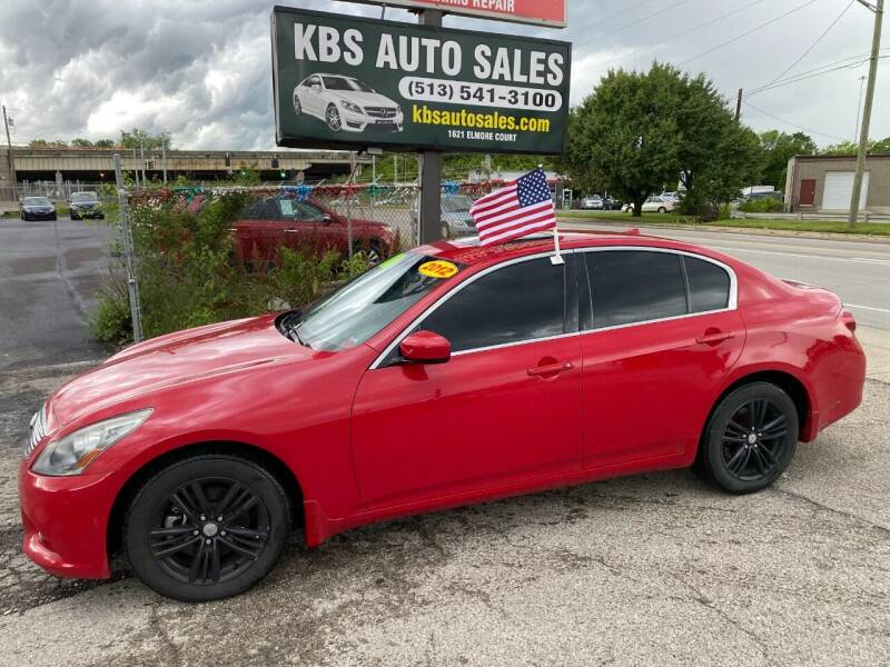 2012 Infiniti G37 Sedan for sale at KBS Auto Sales in Cincinnati OH