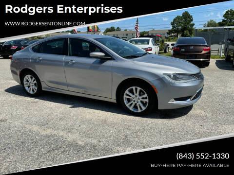 2015 Chrysler 200 for sale at Rodgers Enterprises in North Charleston SC