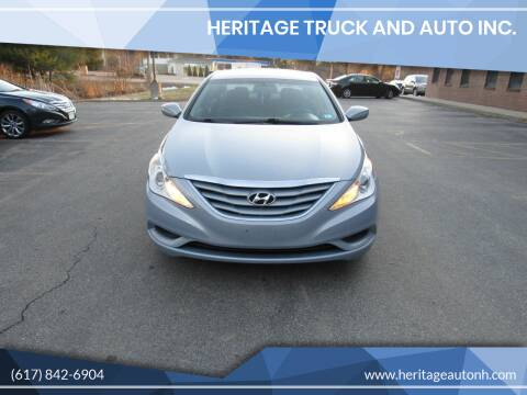 2013 Hyundai Sonata for sale at Heritage Truck and Auto Inc. in Londonderry NH