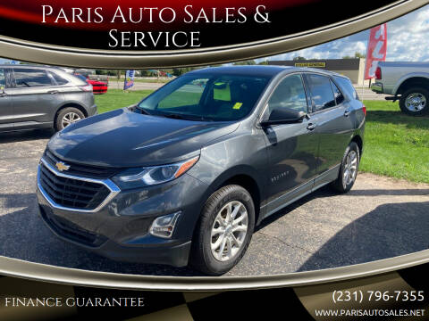 2019 Chevrolet Equinox for sale at Paris Auto Sales & Service in Big Rapids MI