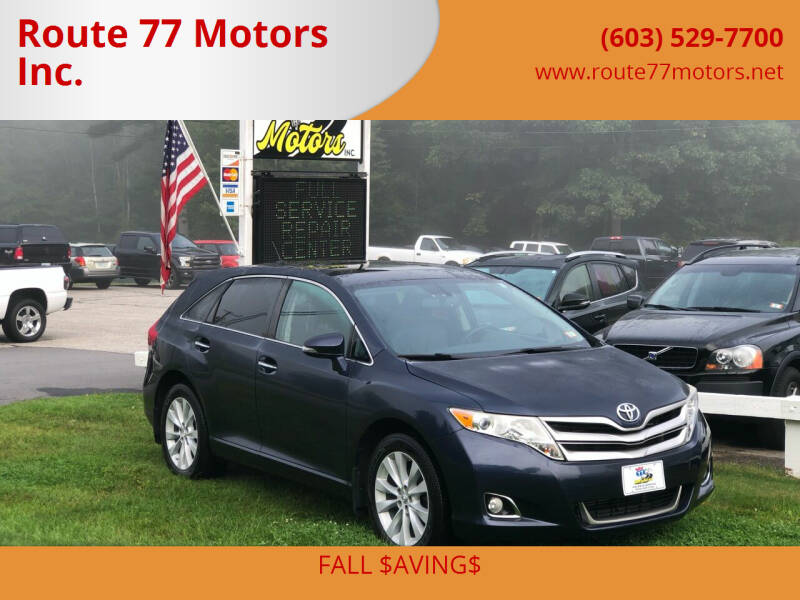 2015 Toyota Venza for sale at Route 77 Motors Inc. in Weare NH