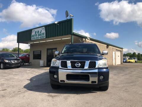 2006 Nissan Armada for sale at B & J Auto Sales in Auburn KY