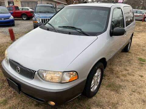 2002 Mercury Villager for sale at Texas Select Autos LLC in Mckinney TX