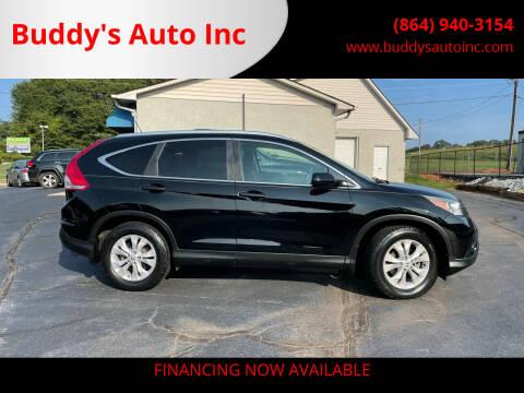 2014 Honda CR-V for sale at Buddy's Auto Inc in Pendleton, SC
