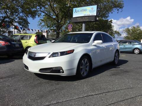 2012 Acura TL for sale at All Star Auto Sales and Service LLC in Allentown PA